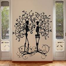 Skeleton Couple Tree Of Life Wall Decal Tree Wall Decal Skeleton Tree Gothic Tree Wall Decal Wall Decals Tree Wall