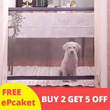 Animals Favorite Pet Retractable Safety Gate Indoor Outdoor Protection Open Box