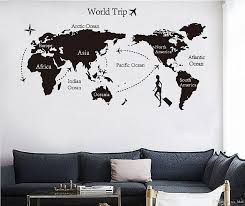 Wall Map Of The World Wall Decals Brown Tree Wall Decal Nursery Beautiful Wall Stickers Printable Map Collection