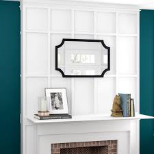 laurel hogan wood framed mirror