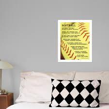 Softball Sayings 13 75 X 17 Wall Decal