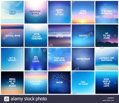 big set of square blurred nature dark blue backgrounds