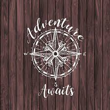 Adventure Awaits Vinyl Decal Compass Decal Camping Decal Etsy