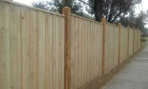 Treated Pine Paling With Exposed 125125 Posts And Capping Top Class Fencing And Gates