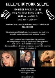 beginner makeup cl at ross park mall