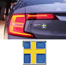 Swedish Flag Insignia Logo Car 3d Sticker Metal For Volvo S40 S60 Xc40 V60 V90 Side Waist Door Trunk Car Tuning Accessories Car Stickers Aliexpress