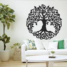 Sacred Tree Wall Decal Tree Of Life Vinyl Sticker For Wall Or Window Home Decor Garden Of Eden Big Trees Yoga Lc999 Wish