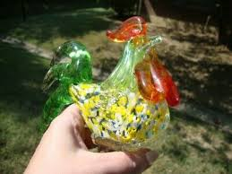 murano italy rooster animal hand blown