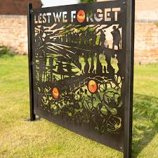 Lest We Forget Remembrance Day Patio Screen Or Fence Panel