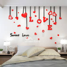 Love Wall Decals Acrylic 3d Living Room For Adults Living Room Decorative