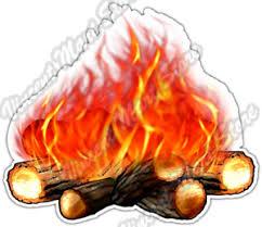 Camp Fire Campfire Flames Camping Wilderness Car Bumper Vinyl Sticker Decal 4 6 Ebay