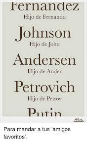 FernandeZ Hijo De Fernando Johnson Hijo De Johrn Andersen Hijo De ...