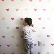 Love Baby Wall Decal Pink Confetti Hearts Hearts Pattern Etsy
