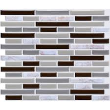 Removable Mosaic Wall Sticker Tile Paper Self Adhesive Home Kitchen Wall Decor Walmart Com Walmart Com