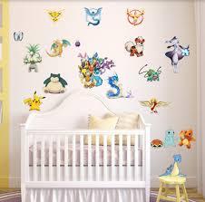 Pokemon Wall Stickers Children Room Decoration Nursery Kids Wall Decals Uk 5 99 Picclick Uk
