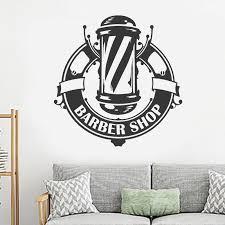 Barbershop Window Decal Vinyl Sticker Logo Art Barber S Hair Haircut Hairdressing Salon Wall Decorations Wall Decals Mural D491 Wall Stickers Aliexpress