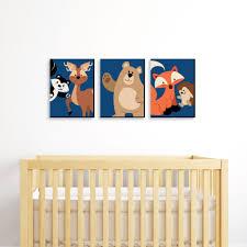 Stay Wild Forest Animals Boy Woodland Nursery Wall Art And Kids Room Decor 7 5 X 10 Set Of 3 Prints Walmart Com Walmart Com