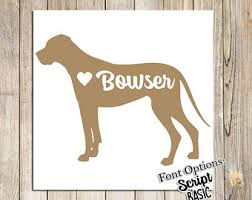 Great Dane With Personalized Name Vinyl Decal Sticker Dog Mastiff Gentle Giant Home Garden Decor Decals Stickers Vinyl Art
