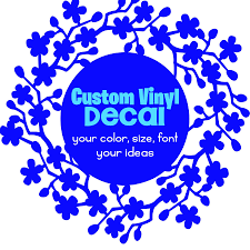 Create Your Own Vinyl Decal Custom Vinyl Decal Your Idea Vinyl Decal For Car Boat Rv Helmet Water Bottle Laptop