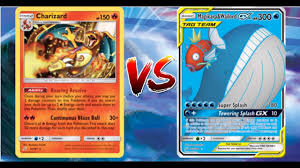 Pokemon TCG Online Charizard VS Magikarp and Wailord GX Quagsire ...