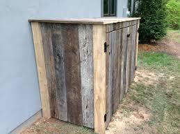 Hiding Trash Cans Using Old Barn Wood British Standard Fencebritish Standard Fence