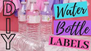 custom diy water bottle labels
