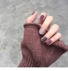 charcoal and burgundy nails inspiring