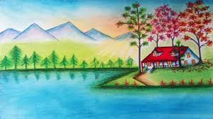 how to draw beautiful scenery of nature
