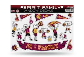Licensed Ncaa Arizona State Sun Devils 1 Fan Family Window Stickers Decals
