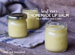 homemade honey lip balm as featured in