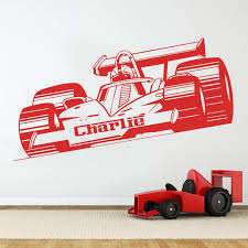 Custom Racing Car Name Wall Sticker Boy Room Bedroom Personalized F1 Vehicle Car Wall Decal Kids Room Vinyl Home Decor Mural Wall Stickers Aliexpress
