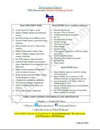 Democratic Debate Drinking Game - The ...