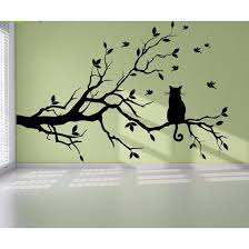 Modern Cat Tree Branch Wall Sticker Decals Nische