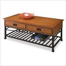 coffee table in distressed oak