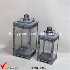 metal and glass candle lantern
