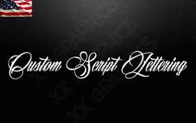 Custom Script Tattoo Style Vinyl Lettering Decal Name Sticker Window Laptop Ebay
