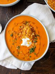 Creamy Roasted Red Pepper Soup with ...