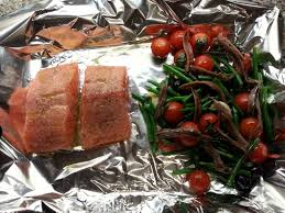 Tray-Baked Salmon with Olives, Green ...