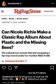 Nicole Richie working on rap album ...