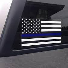 Thin Blue Line American Flag Vinyl Decal Car Sticker Carry Like A Girl Llc