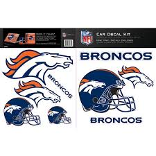 Skinit Denver Broncos Car Decal Kit Walmart Com Walmart Com