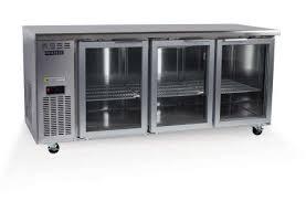 bc180 3 glass door underbench non gn fridge