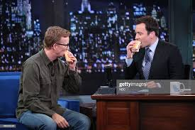 A.D. Miles with host Jimmy Fallon during an interview on Monday ...