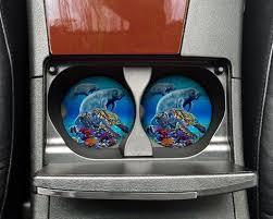 Manatee Turtles Sea Life Car Drink Coasters Sandstone Round Absorbent Travel Mug Coaster Set In 2019 Drink Coasters Life Car Coasters