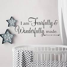 Battoo I Am Fearfully And Wonderfully Made Psalm 139 14 N Https Www Amazon Com Dp B076kbkqb8 Ref Cm Sw R Pi Dp U Vinyl Wall Decals Vinyl Wall Wall Decals