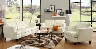 white leather living room design ideas