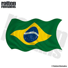 Brazil Waving Flag Decal Brazilian Car Window Vinyl Sticker Lh Rotten Remains High Quality Stickers Decals