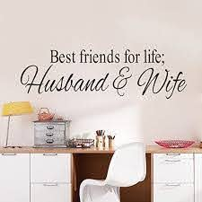 Amazon Com Fanglee Best Friends For Life Husband And Wife Quotes Vinyl Wall Decal Home Kitchen