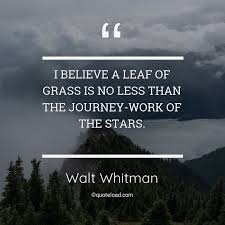 i believe a leaf of grass is no less walt whitman about nature