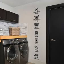 The Rules Of Laundry Decals Laundry Tag Stickers Pattern Wash Dry Fold Iron Laundry Room Vinyl Wall Quote Sticker Decal Wish